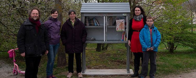 La toute nouvelle boîte à livres sera inaugurée ce dimanche 24 mars. © Photo NR