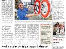Jean-Christophe Aracil, directeur de Signal Concept : « Il suffit de poser la nouvelle plaque sur la face existante, sans changer le panneau. » © (Photo NR)