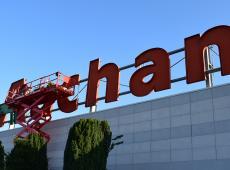 Relamping de l'enseigne lumineuse pour le Auchan de Tours Nord
