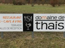 Panneaux d'informations aux visiteurs du Domaine de Thais à Sorigny (37)