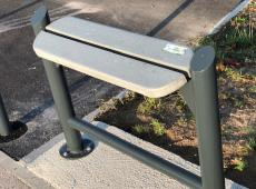 Bancs et tables au skate park d'Ingrandes (86)