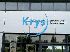 Enseigne pour Krys et Entendre à Saint Cyr sur Loire