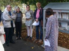La boîte à livres est un projet « communautaire » urbain qui offre à tout le monde la possibilité de déposer et de prendre des ouvrages. © Photo NR