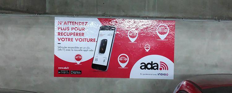 Adhésifs publicitaires pour ADA Location de véhicules