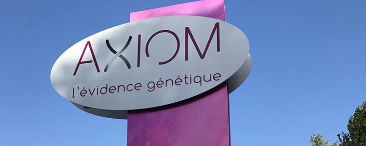 Totem et signalétique pour AXIOM à Azay sur Indre (37)
