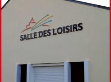 Réalisation d'une enseigne lettre à lettre pour la salle des loisirs de Chanceaux sur Choisille (37)