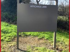 """Panneau """"Affichage Libre"""" laqué pour la ville de Niort (79)"""