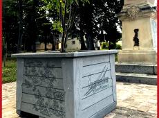 Jardinière en SC'PACK gravée pour la ville de Ingrandes sur Vienne (86)