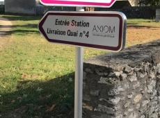 Totem et signalétique pour AXIOM à Azay sur Indre